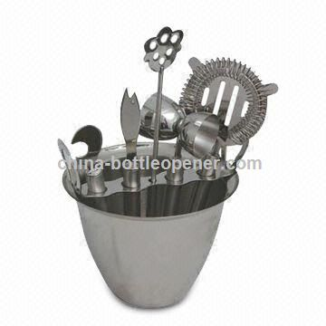Stainless Steel Barware Set with Strainer