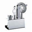 Stainless Steel Bar Set, Bar Accessories, Including Ice Tong, Bottle Opener and More