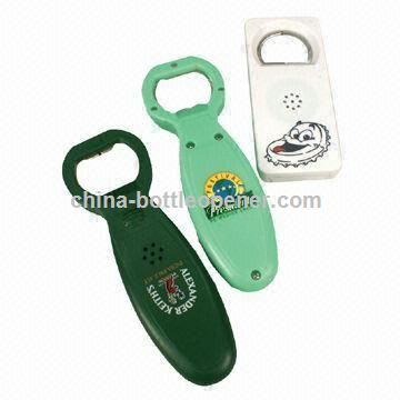 Bottle Opener with Activated Melody,Sound, Different Housing Colors are Available